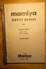 Mamiya Camera Service and repair manuals RB 67 C330 C220