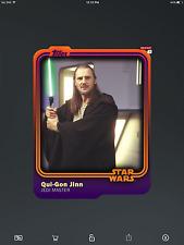 Topps Star Wars Card Trader - Duochrome Qui-Gon Jinn 1/4 (4cc)