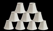 Urbanest Empire Chandelier Lamp Shade in Silk,Softback Bell 3x6x5 White Set of 9