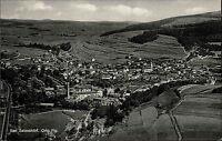 Bad Salzschlirf alte Ansichtskarte ~1950/60 Gesamtansicht Felder Fliegeraufnahme