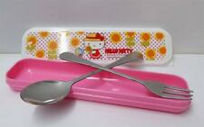Hello Kitty Stainless Steel Fork Spoon Travelling Gift Set Table Ware B
