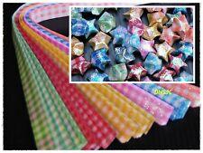 240 strips Origami Papers DIY. Folding kit Lucky Wish Star Shiny Plaid, 1x25 cm.