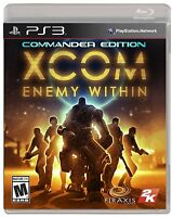NEW XCOM: Enemy Within  (Sony Playstation 3, 2013) NTSC