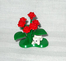 ********NEW LEGO CUSTOM RED ROSE BUSH PLANT WITH CROUCHING KITTEN, KITTY********