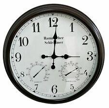 "Hammacher Schlemmer~23""~Illuminated Indoor/Outdoor ATOMIC CLOCK & Thermometer"