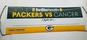 NFL Green Bay Packers vs Cancer Sign Bellin Health Vince Lombardi Foundation