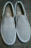 Vans Mens 7 Womens 8.5 Perforated Suede Slip On Shoes Cloud Silver