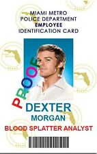 Dexter Morgan Laminated Work ID ~ Free Ship ~