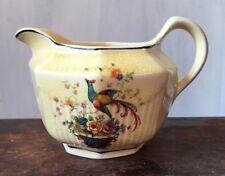 Creamer Antique Ivory by Salem China Bird of Paradise Flower Basket pattern