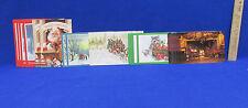 Christmas Postcards Unused Fireplace Santa Church Snow Racoon Horses Lot of 29