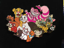 Disney Auctions Cats Jumbo Cheshire Marie Lucifer Dinah Figaro Simba Pin LE 100