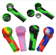 Colorful Silicone Tobacco Pipes New Portable Smoking Cigar Cigarette Herb Pipes