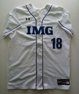 IMG ACADEMY - UNDER ARMOUR STITCHED BASEBALL JERSEY #18 SIZE L