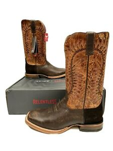 Ariat Men's Relentless Elite Western Boots Wide Square Toe 11 EE Extra Wide NEW