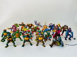 LOT OF 24 Vintage TMNT Action Figures Some Accessories 1989 1990 CLEAN READ