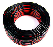 50 FT 14 Gauge Speaker Wire Stranded Copper Mix Roll Red and Black Power Ground
