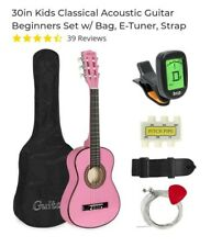 30in Kids Classical Acoustic Guitar Beginners Set w/ Bag, E-Tuner, Strap