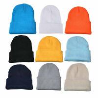 1PC Soft Elastic Unisex Slouchy Knitting Beanie Hip Hop Cap Warm Winter Ski Hat