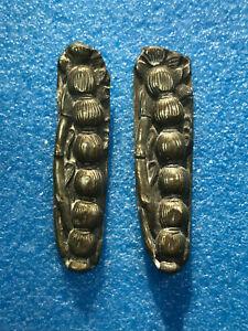 Edo period 18th-19th century Japan two Thistle? gold & silver plated Menuki