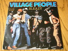 "VILLAGE PEOPLE - SLEAZY   7"" VINYL PS (ITALIAN PRESSING)"
