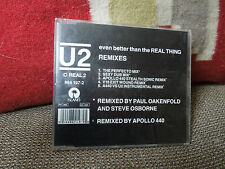 U2 Even Better Than The Real Thing Remixes RARE CD Single