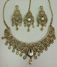 New beautiful Indian bollywood necklace set costume jewellery lct/white