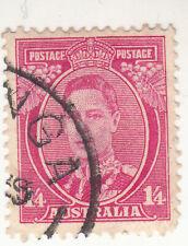 Australia 1937-49 Pre-decimal George Vi Definitive 1/ 4d purple red. Used