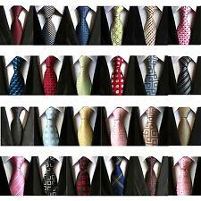 Fashion Men's Classic Tie 100% Silk Necktie Geometric Woven Jacquard Neck Ties