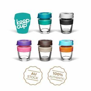 KeepCup Double Wall LongPlay - GLASS Reusable Coffee Tea Keep Cup NEW - 12/16oz