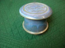 Ceramic French Butter Keeper Dish, Blues & Browns, USA