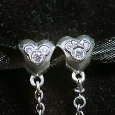 Pandora Disney Heart Of Mickey Mouse Silver Safety Chain, 791704cz , Mint