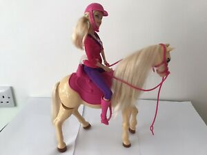 Horse riding Barbie and Walking Tawny Horse