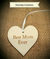 Mothers Day Wooden Gift Tag - Best Mum Ever