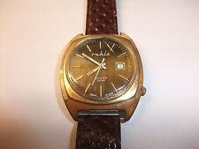 o DDR Produktion UMF Ruhla Quartz Quarz Uhr Armbanduhr Quarzuhr funktionstüchtig