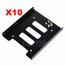 "10PCS 2.5"" SSD HDD Hard Drive to 3.5"" Steel Caddy Tray Mounting Bracket USA SHIP"