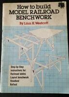 How to Build Model Railroad Benchwork by Linn Westcott—