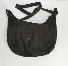 Dark Brown 100% Genuine Soft Leather Made in Mexico Purse Crossbody Shoulder Bag