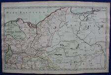 NORTH GERMANY, DANZIG, GDANSK, PRUSSIA, original antique map, DESNOS, c.1765
