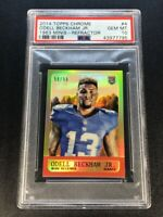 ODELL BECKHAM JR 2014 TOPPS CHROME #4 1963 MINI REFRACTOR /99 ROOKIE RC PSA 10