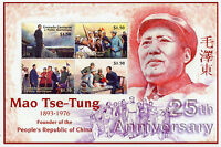 Grenadines Grenada 2001 MNH Mao Tse Tung 25th Memorial 4v M/S Stamps