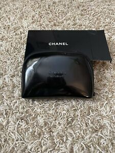 Chanel Black Patent Make Up Case