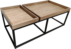 Admired By Nature Coffee Accent Table Top Tray