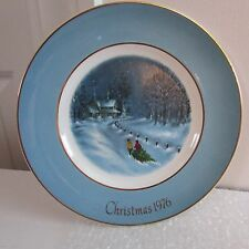 """8 3/4"""" Avon Collector Plate Bringing Home the Tree, 3rd Edition, 1976"""