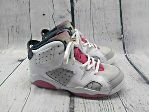 Nike Air Jordan VI 6 Retro PS Hare Size 2Y Youth Shoes Athletic White 384666-062