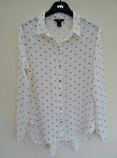 H&M Hip Length Collared Business Tops & Shirts for Women