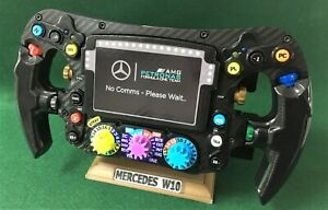 Lewis Hamilton FULL SIZE replica W10 steering wheel_F1_Mercedes. Not Amalgam.