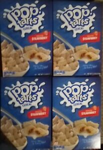 4 Boxes Kellogg's Pop Tarts Cereal Frosted Strawberry FOUR 11.2 oz ea. 07/2021