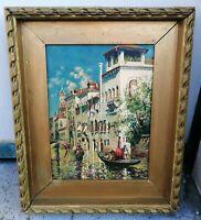 Antoine Bouvard (1870 -1955) Canale a Venezia olio su tavola 30 x 40 cm