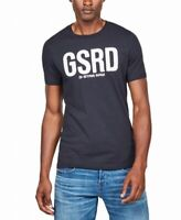 G-Star Raw Mens T-Shirt Blue Size Small S Velvet Logo Graphic Tee $65 153