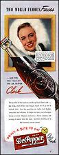 1947 Dr. Pepper Cola Rita Daigle model Pinup Girl  vintage photo print ad L23